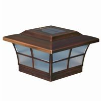 6x6 Copper Plated Prestige Solar Post Cap - Copper SL086