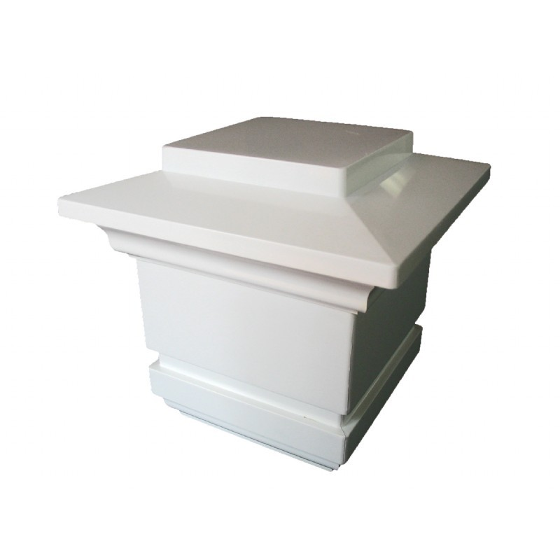 low voltage post cap white. Black Bedroom Furniture Sets. Home Design Ideas