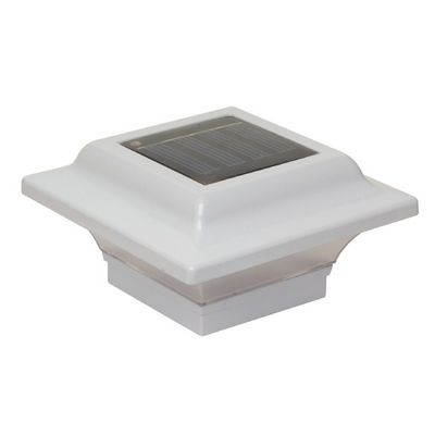 2.5x2.5 White Aluminum Imperial Solar Post Cap - White SL082W
