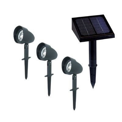 3-Pack Solar Landspace Spotlights - Black SL489