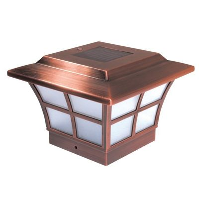 4x4 Copper Plated Prestige Solar Post Cap - Copper SL079C