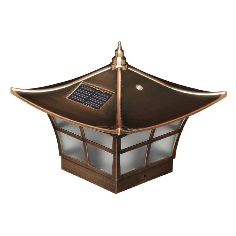 4x4 copper plated ambience solar post cap copper. Black Bedroom Furniture Sets. Home Design Ideas