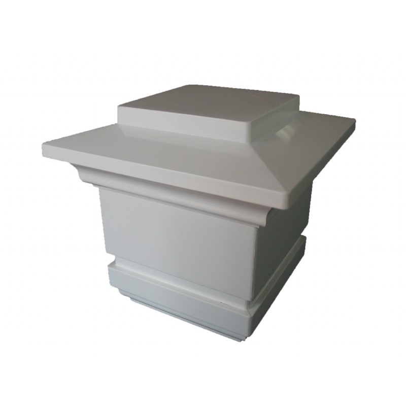 4x4 Low Voltage Post Cap - Gray