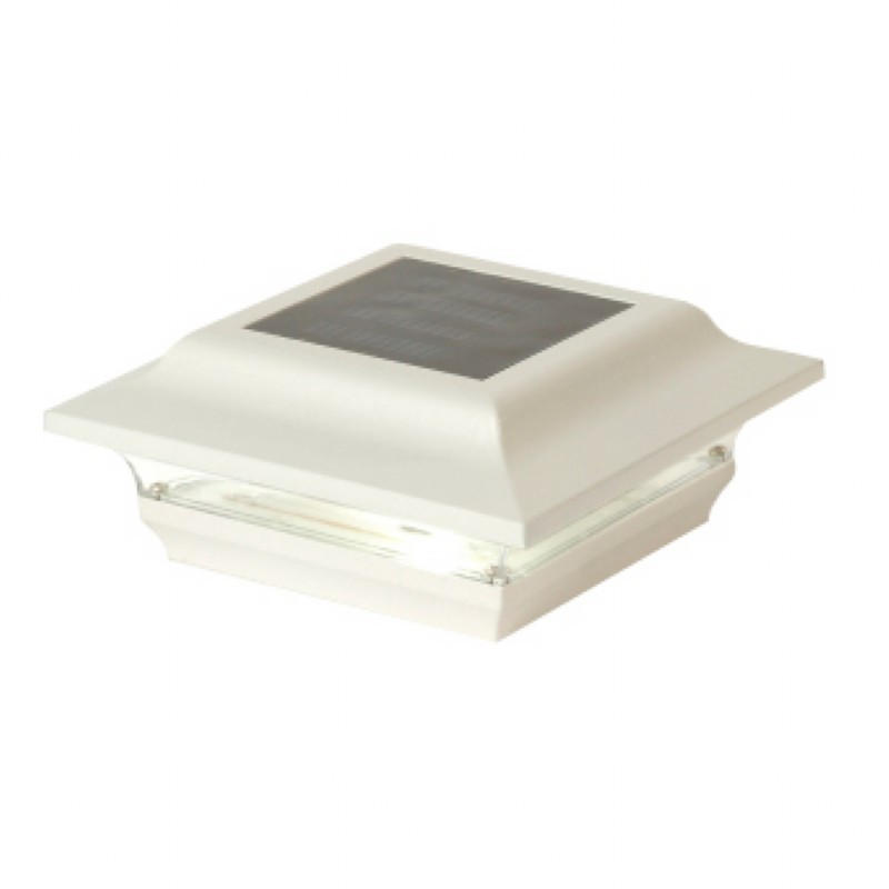 4x4 White Aluminum Imperial Solar Post Cap - White