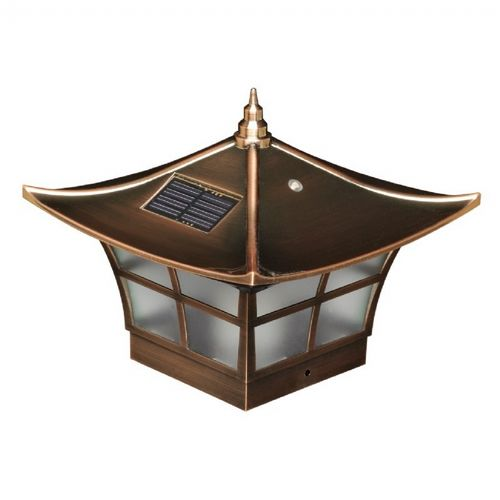 4x4 Copper Plated Ambience Solar Post Cap - Copper SL094