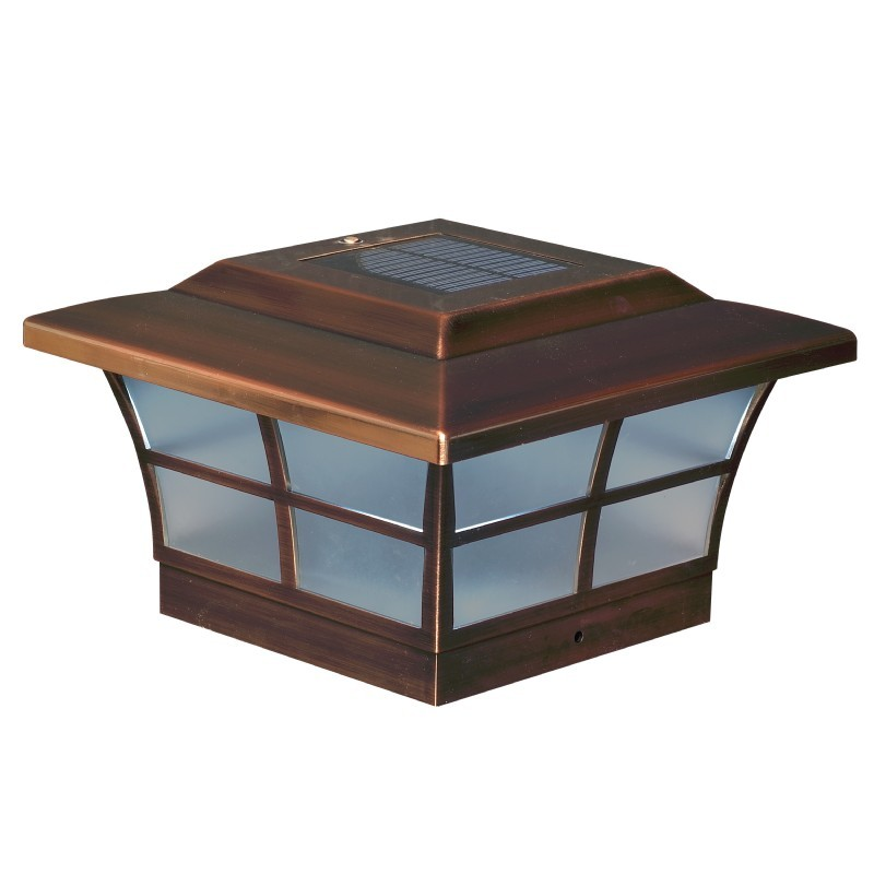 6x6 Copper Plated Prestige Solar Post Cap - Copper