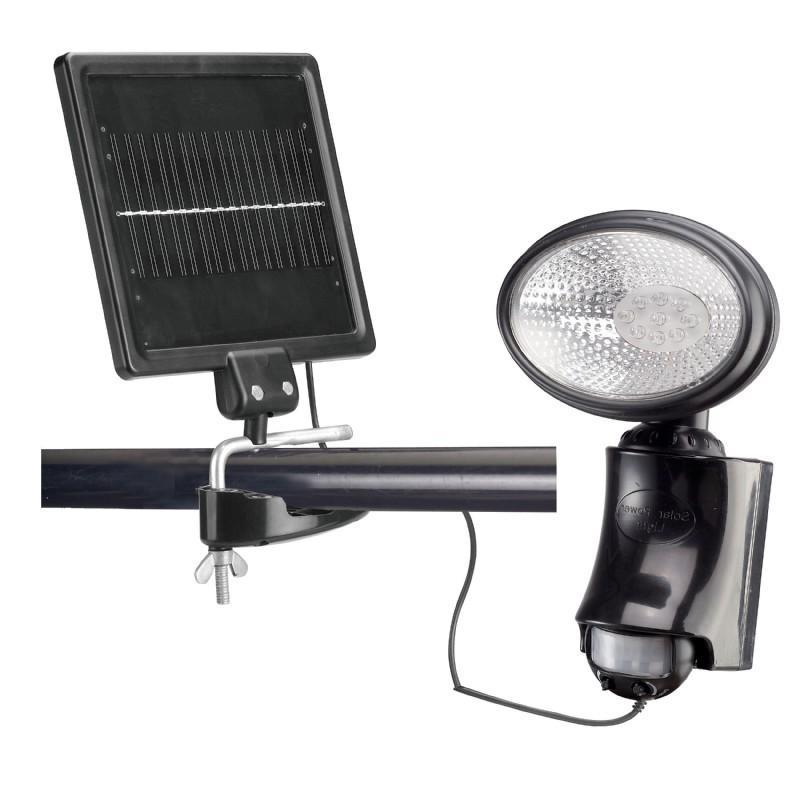 solar motion sensor security light black. Black Bedroom Furniture Sets. Home Design Ideas