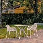 Air XL Outdoor Dining Set with 2 Arm Chairs White ISP7002S