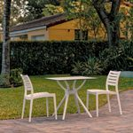 Ares Outdoor Dining Set with 2 Chairs White ISP7001S