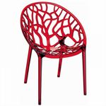 Crystal Outdoor Dining Chair Transparent Red ISP052