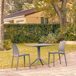 Maya Patio Dining Set with 2 Chairs Dark Gray ISP1063S