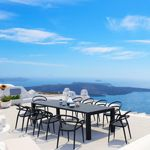 Mila Extendable Outdoor Dining Set 11 piece Black ISP0851S