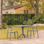 Snow Patio Dining Set with 2 Chairs Dark Gray ISP1066S