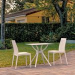 Soho Outdoor Dining Set with 2 Chairs White ISP7005S