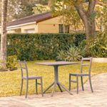 Tiffany Patio Dining Set with 2 Chairs Dark Gray ISP1061S