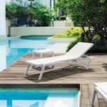 White Pacific Chaise by Siesta