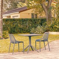 Air Patio Dining Set with 2 Chairs Dark Gray ISP1060S