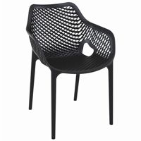 Air XL Outdoor Dining Arm Chair Black ISP007