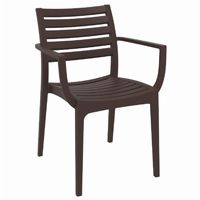 Artemis Resin Outdoor Dining Arm Chair Brown ISP011