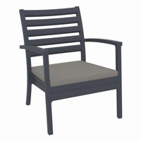 Artemis XL Outdoor Club Chair Dark Gray with Taupe Cushion ISP004
