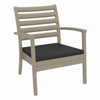 Artemis XL Outdoor Club Chair Taupe with Charcoal Cushion ISP004