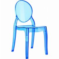 Baby Elizabeth Polycarbonate Kids Chair Transparent Blue ISP051