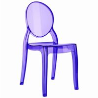 Baby Elizabeth Polycarbonate Kids Chair Transparent Violet ISP051