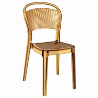 Bee Polycarbonate Dining Chair Transparent Amber ISP021