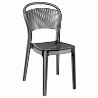 Bee Polycarbonate Dining Chair Transparent Black ISP021