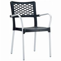 Bella Outdoor Arm Chair Anthracite ISP040