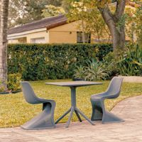 Bloom Patio Dining Set with 2 Chairs Dark Gray ISP0484S