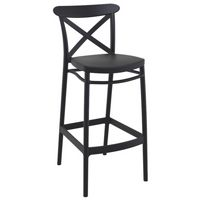 Cross Outdoor Bar Stool Black ISP266