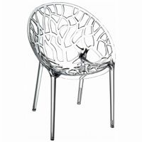 Crystal Outdoor Dining Chair Transparent ISP052