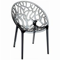 Crystal Outdoor Dining Chair Transparent Smoke Gray ISP052