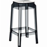 Fox Polycarbonate Counter Stool Transparent Black ISP036