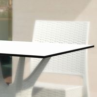 Laminated top outdoor furniture, tables