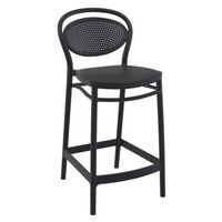 Marcel Outdoor Counter Stool Black ISP268