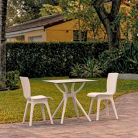 Mio Outdoor Dining Set with 2 Chairs White ISP7009S