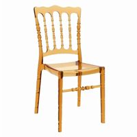 Opera Polycarbonate Dining Chair Transparent Amber ISP061