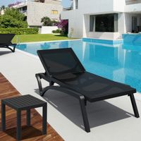 Pacific 3-pc Stacking Chaise Lounge Set Black - Black ISP0893S