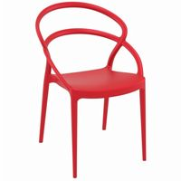 Pia Outdoor Dining Chair Red ISP086