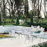 La plaza resin furniture, chairs, tables, restaurant