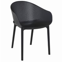 Sky Outdoor Indoor Dining Chair Black ISP102