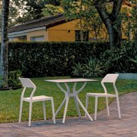 Snow Outdoor Dining Set with 2 Chairs White ISP7006S
