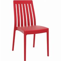 Soho Modern High-Back Dining Chair Red ISP054