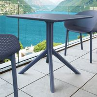 Square outdoor patio dining tables resin, aluminum, wicker