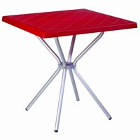 Square Outdoor Table Red ISP750