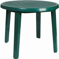 Sunny Resin Round Dining Table 35 inch Green ISP125