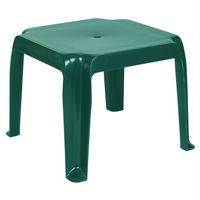 Sunray Square Side Table - Green ISP240