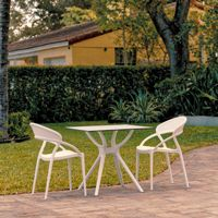 Sunset Outdoor Dining Set with 2 Chairs White ISP7008S